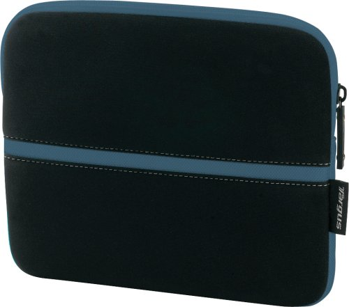 Targus Neoprene Slipskin Peel Netbook Slip Case Designed to Protect up to 10.2-Inch Netbooks TSS11101US (Black with Blue)
