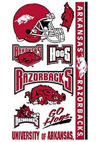 Arkansas Razorbacks UA NCAA Temporary Tattoos (10 Tattoos) at Amazon.com