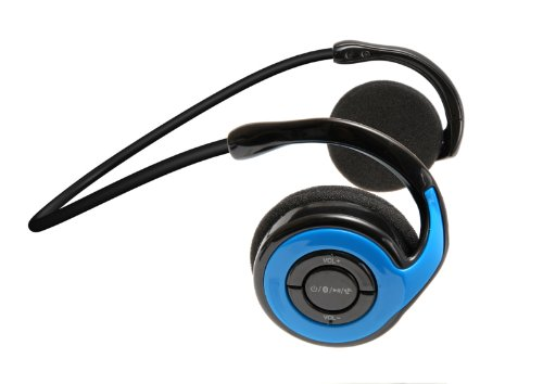 Jarv Joggerz Bt-301 Sports Bluetooth 4.0 Headphones With Built-In Microphone - Blue (Updated Version)
