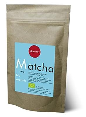 Bio Matcha Tee Pulver von Quertee® - Blue Style - im 100 g Zip Beutel - Matcha zum Trinken - Kochen und Backen von tee-markt24 - Gewürze Shop