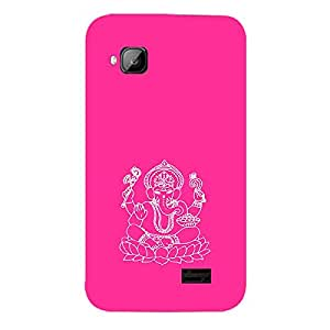 Skin4gadgets Lord Ganesha - Line Sketch on English Pastel Color-Bubble Gum Phone Skin for MICROMAX S300