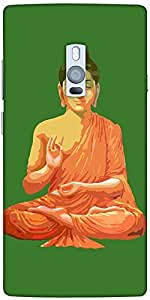 Snoogg Buddha For Peace Green Solid Snap On - Back Cover All Around Protectio...