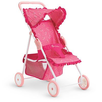 American Girl Bitty Baby's Hot Pink Stroller for Dolls Amazon.com