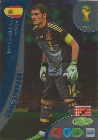 FIFA World Cup 2014 Brazil Adrenalyn XL Iker Casillas Goal Stopper