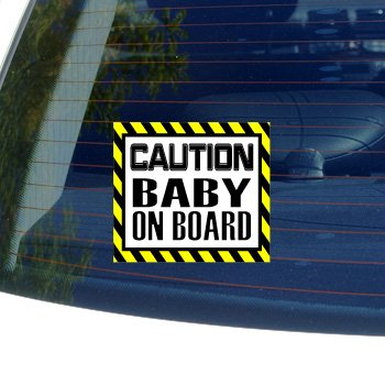 Caution Baby on Board - Window Bumper Laptop Sticker