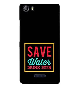 Save Water Drink Beer 3D Hard Polycarbonate Designer Back Case Cover for Micromax Canvas 5 E481