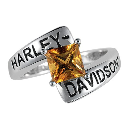Sterling Silver Harley-Davidson Ladies Crossroads Birthstone Ring - November Citrine