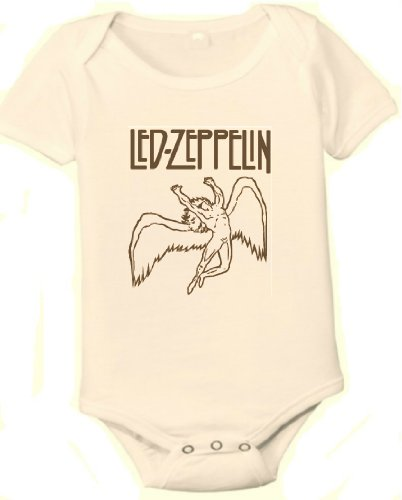 Led Zeppelin Organic One-Piece Baby Shirt (6-12 Months) front-285540