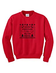 Christmas Crewneck Sweatshirt Immitation Snowflake