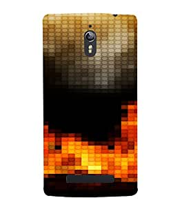 PrintVisa Modern Art Fire Design 3D Hard Polycarbonate Designer Back Case Cover for Oppo Find 7