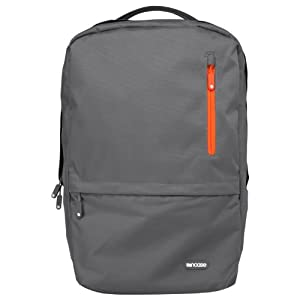 Incase CL55376 Nylon Campus Backpack (Dark Grey/Red Orange)