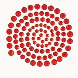 Self-Adhesive Rhinestones 100/Pkg-Red