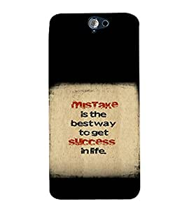 printtech Cool Quotes Success Back Case Cover for HTC One A9