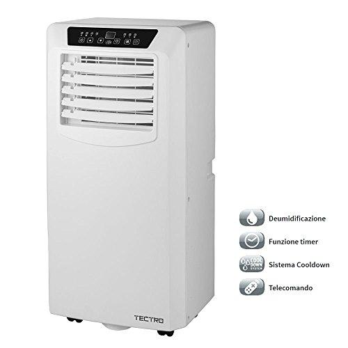 Condizionatore portatile climatizzatore deumidificatore aria bianco ruote TP2020