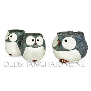 Owl Ceramic Tea Set (Blue) by Kotobuki
