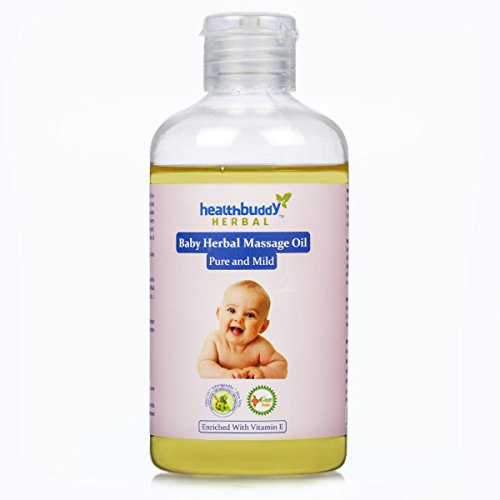 Healthbuddy Baby Herbal Massage Oil Pure & Mild 3 Packs Of 200 Ml Each