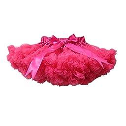 Buenos Ninos Girl\'s Dance Tutus Chiffon Pettiskirt Size 1-2t Hot Pink