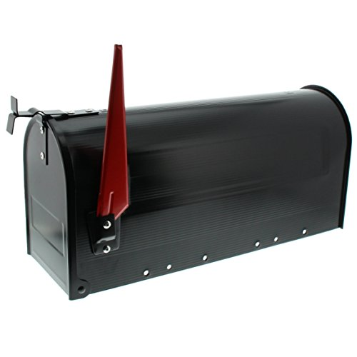 burg w chter us mailbox mit schwenkbarer fahne aluminium 891 s schwarz. Black Bedroom Furniture Sets. Home Design Ideas