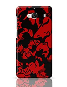 PosterGuy Redmi 2 / Redmi 2 Prime Case Cover - Faces Faces, Red, Black, Face, Mood, Doodle, Happy, Sad, Annoyed, Think, Thinking, Phase