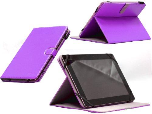 Navitech lilanes bycast Leder Case / Cover 360 Grad rotierbar für das Samsung Galaxy Tab 3 10.1/2 10.1 /Note 10.1