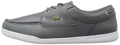 Lacoste Men's Codecasa 316 1 Spm Boat Shoe, Grey, 9.5 M US