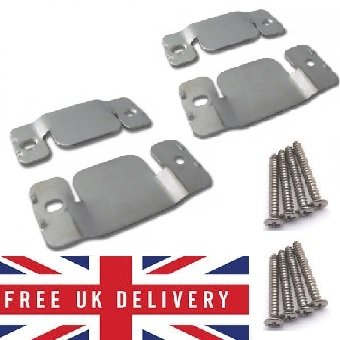 Metal Interlocking Connecting Clips For Sofas And Furniture X 2 Pairs With Screw