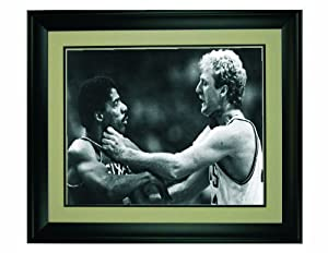 Boston Celtics Larry Bird Choking Philadelphia 76er