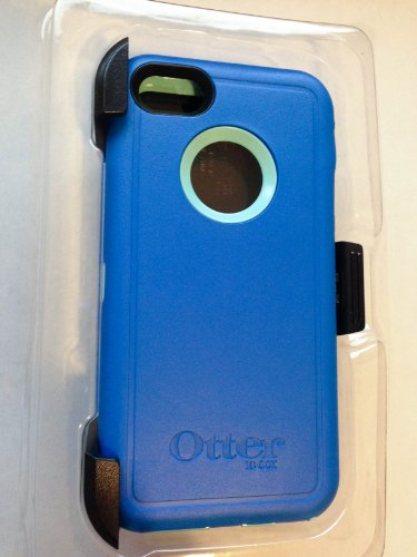 Otterbox Defender Series Case With Holster Clip For Iphone 5C Only - Retail Packaging (Ocean Blue/Aqua Blue)