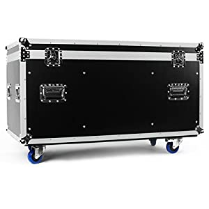 frontsge universal rack und transportcase gro e flight case transportbox auf rollen 118 x 61 x. Black Bedroom Furniture Sets. Home Design Ideas