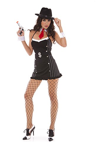 Sexy Women's Moolah Maven Mobster Gangster Adult Roleplay Costume