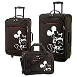 Disney Rolling Mickey Mouse Luggage Set -- Black 3-Pc.