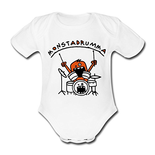 Monster-Drummer-Baby-Kurzarm-Body-von-Spreadshirt