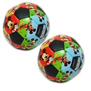 Mickey Mouse Clubhouse Soft 10cm Soccer Ball For Kids / Toddlers - Pack Of Two [Toy]