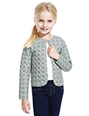 Pure Cotton Floral Quilted Jacket