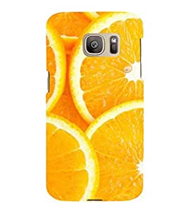 Printvisa Premium Back Cover Sliced Oranges Background Design For Samsung Galaxy S7::Samsung Galaxy S7 Duos with dual-SIM card slots
