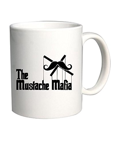 Cotton Island - Tazza 11oz OLDENG00271 the mustache mafia white, Taglia 11oz