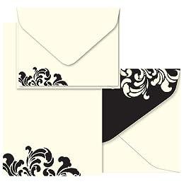 letter imPress black filigree