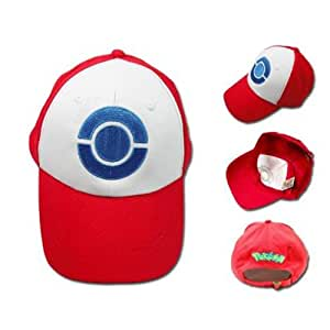 XCOSER Pokemon Ash Hat Ketchum Game Cosplay Costume Pokemon Hat Cap