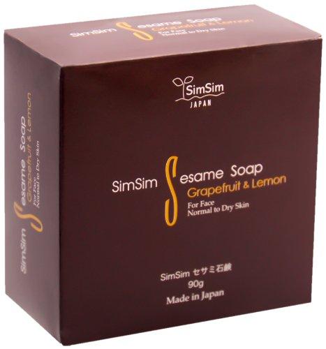 SimSim セサミ石鹸 90g 泡立てネット付 洗顔石鹸