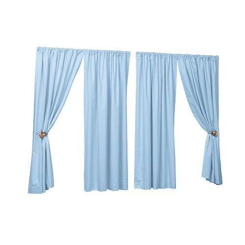 Sweet Dreams Twill Window Panel - Blue (63 inches) - 1