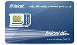 Telcel Mexico Prepaid SIM Card with 4GB and 250 Anywhere Minutes (LTE 3 in 1 Fits All Devices)