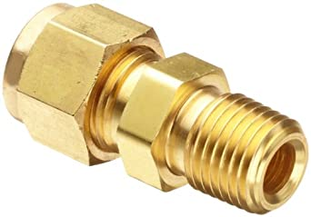 Parker CPI 4-2 FBZ-B Brass Compression Tube Fitting, Adapter, Tube OD x NPT Male