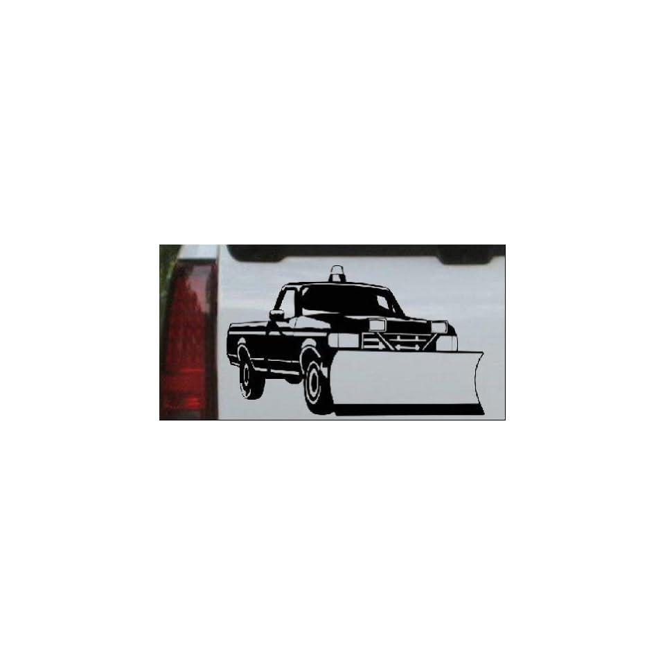 Snow Plow Truck Business Car Window Wall Laptop Decal Sticker    Black 30in X 17.6in