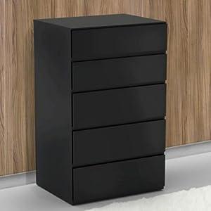 Nexera 221506 Avenue 5-Drawer Chest, Black by Nexera