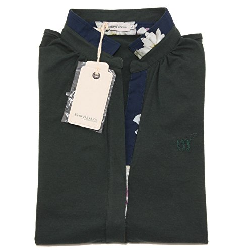 7945O polo donna HENRY COTTON'S STRETCH manica lunga verde t-shirt woman [48]