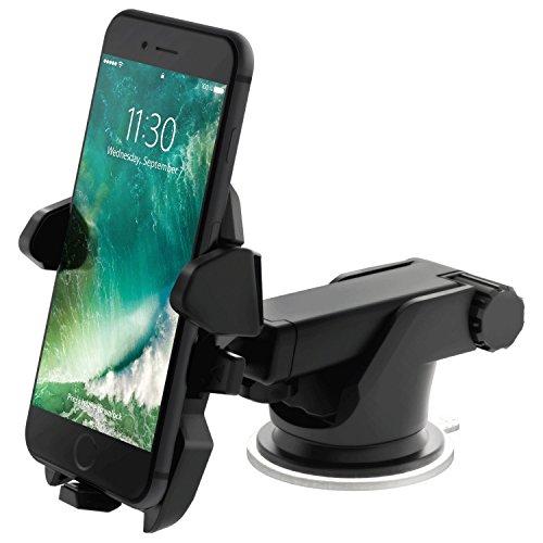 Naliom® Porta Cellulare Auto Supporto Auto perSmartphone tutto, Telefoni Cellulari e Navigatori da Auto di Larghezza,47-115mm 360 Gradi di Rotazione. - Color Negro