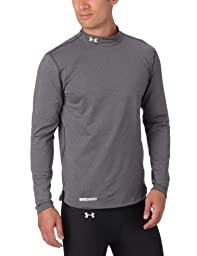 Under Armour Men\'s ColdGear® Fitted Long Sleeve Mock Large Carbon Heather