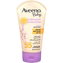 Aveeno Aveeno Baby Continuous Protection Sunblock Lotion Spf 55 4 oz