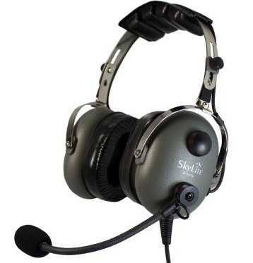 Sl-900M Skylite Aviation Ga Grey Headset W/ Gel Seal, Dual Plug With Flight Bag Mp3