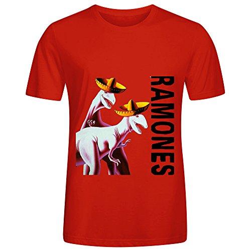 The Ramones Adios Amigos Jazz Album Men O Neck Casual Shirts Red (Slip Stream Grease compare prices)